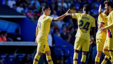 صورة برشلونة يحقق فوزه الأول خارج ملعبه في الدوري الاسباني
