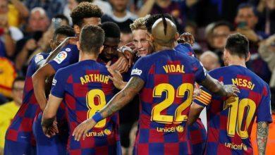 صورة تشكيلة برشلونة أمام اسبانيول في مباراة اليوم