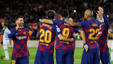 صورة برشلونة يكتسح ألافيس برباعية و يواصل زعامته للدوري الإسباني