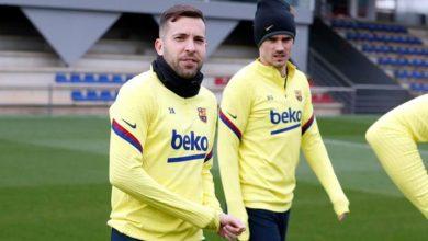 صورة عودة جوردي ألبا لقائمة برشلونة لمباراة الكلاسيكو