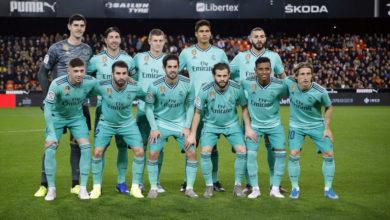 صورة تشكيلة ريال مدريد ضد فالنسيا في مباراة اليوم