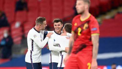 صورة إنجلترا تحقق الفوز على بلجيكا بهدفين مقابل هدف