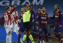 صورة بسبب طرده أمام بلباو.. إيقاف ميسي قد يصل إلى 12 مباراة