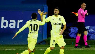 صورة لويس سواريز يأتي لأتلتيكو مدريد بفوز صعب على إيبار العنيد