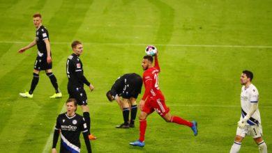 صورة بايرن ميونيخ يتعادل مع بيليفيلد بثلاثة أهداف لكل فريق