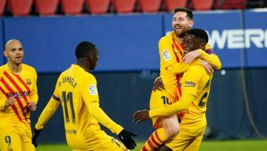 صورة برشلونة تقلص الفارق مع أتلتيكو مدريد لنقطتين بعد الفوز على أوساسونا