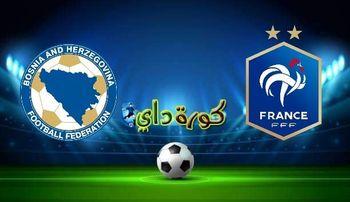 صورة مشاهدة مباراة فرنسا والبوسنة والهرسك بث مباشر اليوم في تصفيات كأس العالم