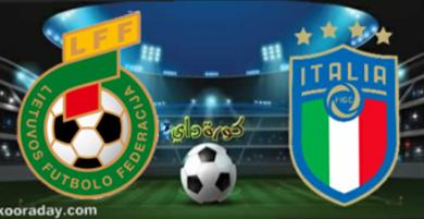 صورة موعد مباراة إيطاليا وليتوانيا والقنوات الناقلة