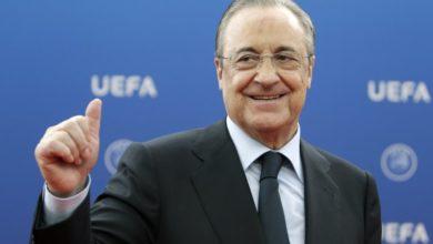 صورة بيريز رئيسًا لريال مدريد بالتزكية