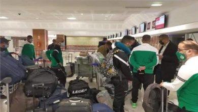 صورة وصول بعثة فريق الرجاء البيضاوي لمواجهة نادي بيراميدز