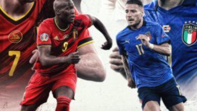 صورة تشكيلة إيطاليا وبلجيكا في مباراة اليوم