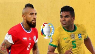 صورة تشكيلة البرازيل وتشيلي في مباراة اليوم